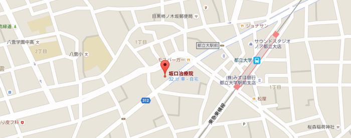 坂口治療室のマップ画像